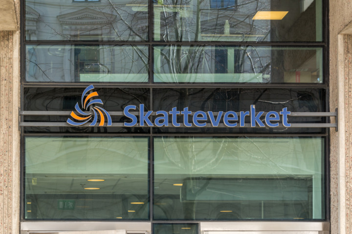 Bild på Skatteverkets huvudentré i Göteborg.